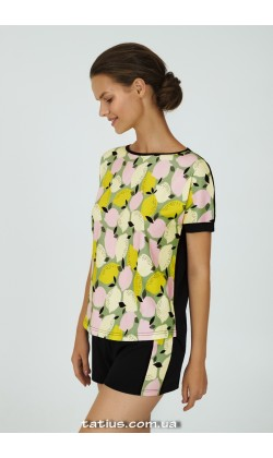 Пижама женская c шортами Ellen Lemonade LPK 2870/01/01