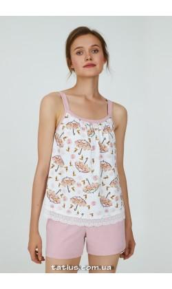 Пижама женская c шортами Ellen Flora LPK 4170/01/01
