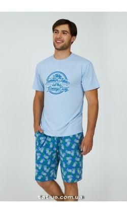 Пижама мужская с шортами Ellen Summer time MPK 2070/01/01