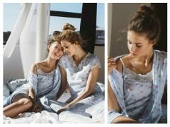 Пижамы,ночные рубашки,халат из новой коллекции 2019 от ТМ ELLEN «Весенняя беззаботность»