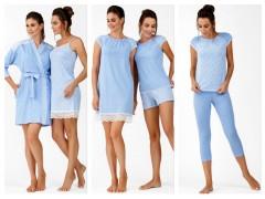 Коллекция одежды для сна весна-лето 2019 от ТМ ELLEN «Blue Leaves»