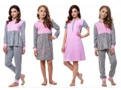 Женские и детские пижамы,ночнушки от ТМ ELLEN «Бриллианты»