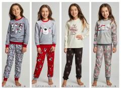 Утепленные детские пижамы для девочек от ТМ ELLEN коллекция осень-зима 2019/2020