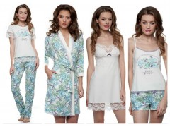 Ночные рубашки, пижамы XS-3XL коллекция от ТМ ELLEN «Гортензии»