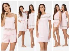 Пижамы,сорочки,халаты от ТМ ELLEN коллекции весна-лето 2019 «Цветочная нежность»