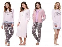 Женские теплые пижамы,ночные рубашки от ТМ ELLEN «Медвежата»