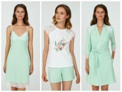 Сочный тренд грядущей весны - домашння одежда цвета травы