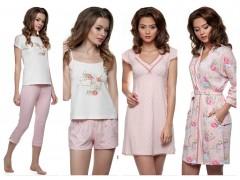 Новая коллекция весна/лето 2018 от ТМ ELLEN сорочки, пижамы, халат «Розовый горох»