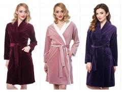 Велюровый халат,так приятно одется после пробуждения…ТМ ELLEN